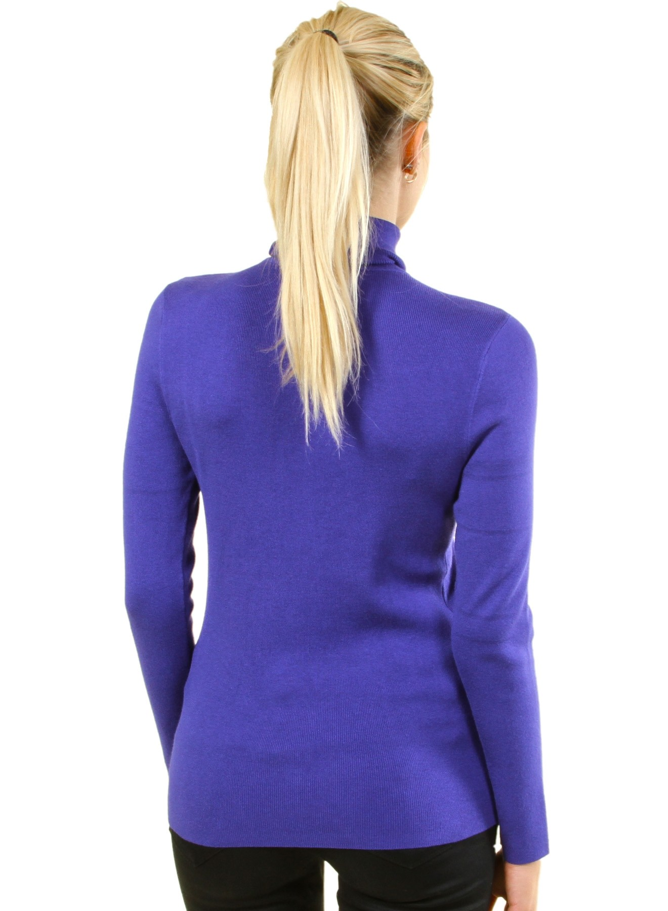 Long sleeve sweater with turtle neck collar FH-BFT02766-PURPLE