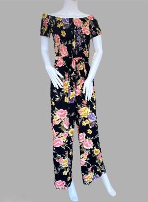 TARJ222J-Black pink floral
