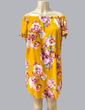 8884-Mustard Floral