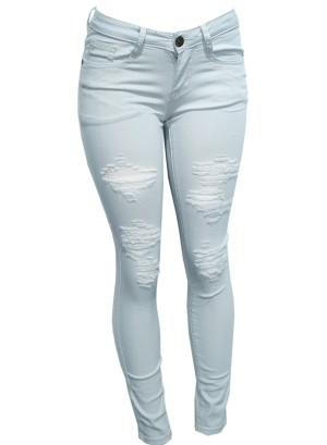 Distressed Skinny Pants. DMP-2A4184-Beige