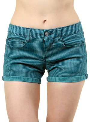 WOMEN'S STRIPED SHORT SHORTS. FH-GEO885OOST-MINT