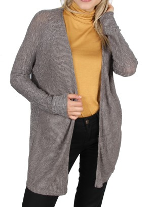 Dolman sleeves Open Cardigan.AEO1121188-TAUPE