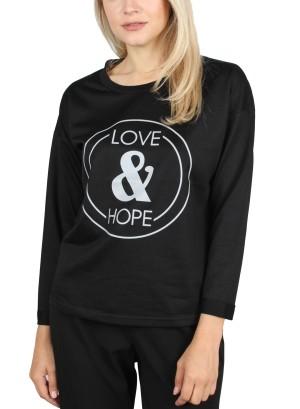 LOVE & HOPE PULLOVER. Y62Y001-BLACK  GOLD