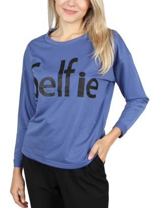 SELFIE PULLOVER. Y62Y001-BLUE