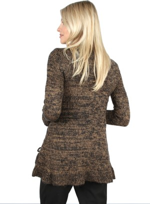 TASSLE-ACCENT SWEATER. 12341-BLACKWOOD
