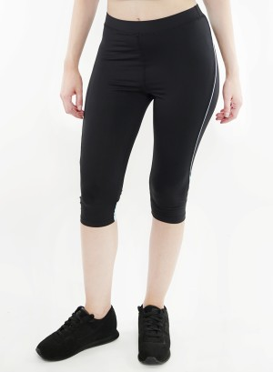 Stretched active Capri-leggings.2015082-Black/Mint