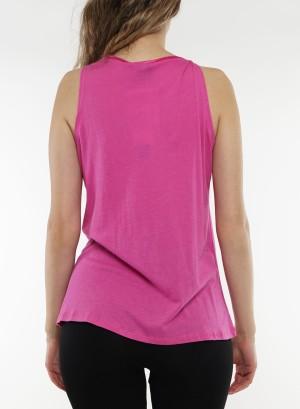 Sleeveless rose front detail top 41259698-Pink