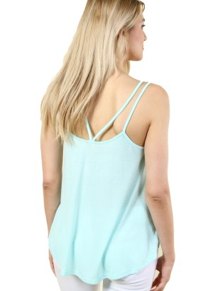 "WOMEN'S ""ANCHOR"" DESIGN TANK TOP. FH-GT27G149HA-MINT"