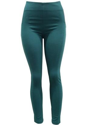 Banded waistline leggings. Aw15-Green