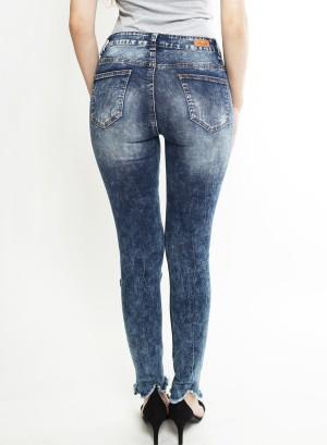 Distressed Skinny Jeans. MD002 Dark Blue