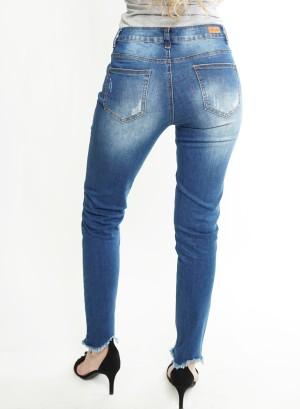 Distressed Skinny Jeans. MD002 Light Blue