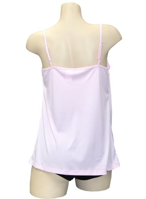 Adjustable spaghetti straps tank top.T006283-PINK