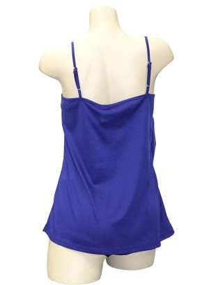 Adjustable spaghetti straps tank top.T006283-PURPLE