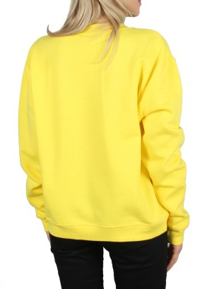 Long Sleeves Solid Sweatshirt-FH-117508-YELLOW